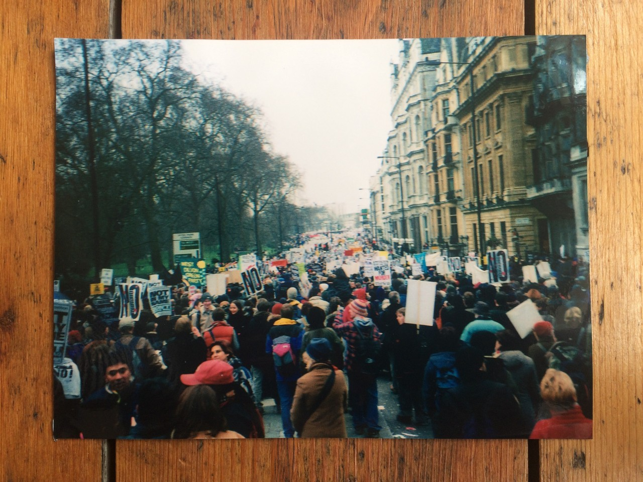 The biggest global protest ever - London march against the war in Iraq