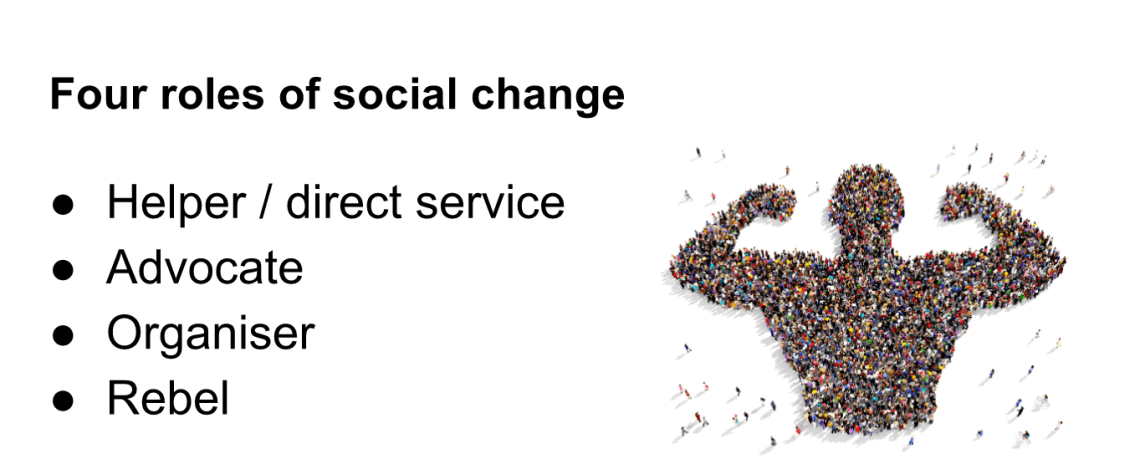 Four roles of social change